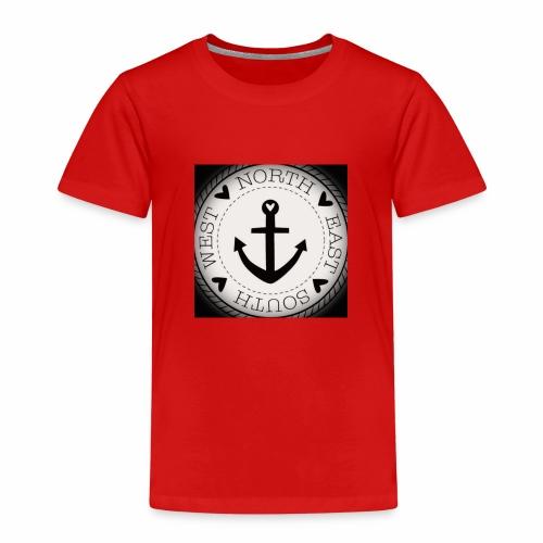 maritim anker wadeco wandtattoo x - Kinder Premium T-Shirt