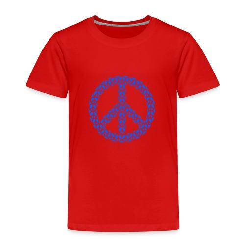 Peace Zeichen in blau - Kinder Premium T-Shirt