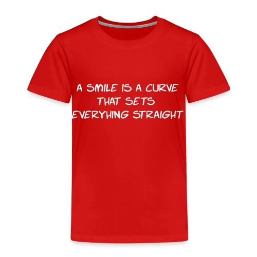 A Smile is a curve - Kinderen Premium T-shirt
