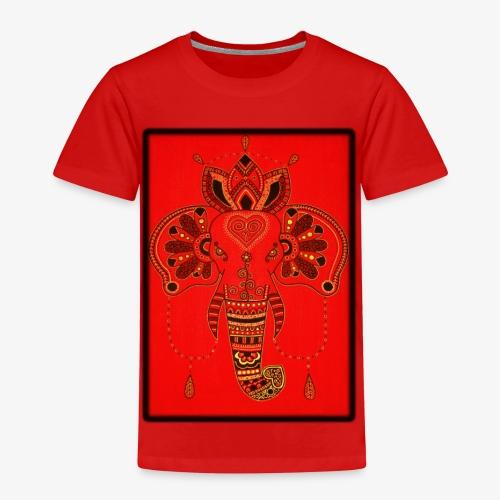 Elefant Orientalisch Handgemalt Geschenkidee - Kinder Premium T-Shirt