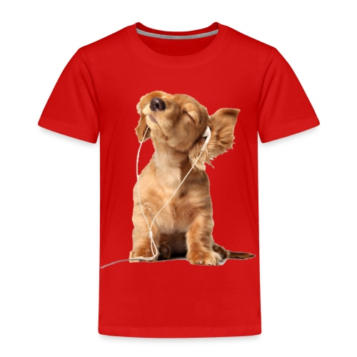 Cool Dog Listening to Music - Kids' Premium T-Shirt