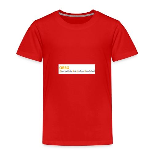 Text-Logo der ÖRSG - Rett Syndrom Österreich - Kinder Premium T-Shirt