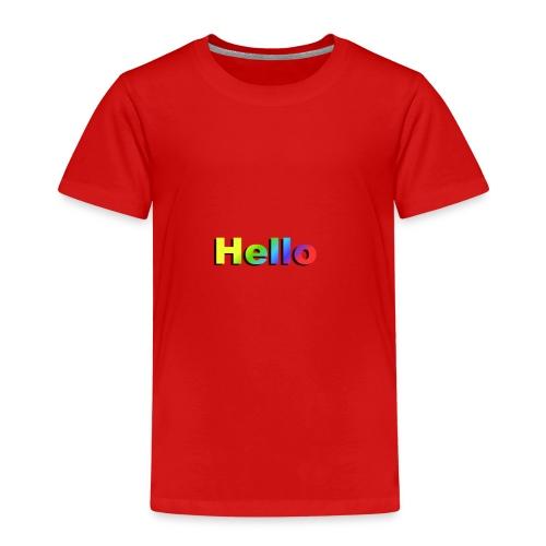 Hello - Koszulka dziecięca Premium