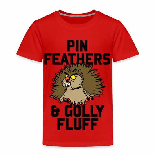 Archimedes - Pin feathers and golly fluff - Kids' Premium T-Shirt