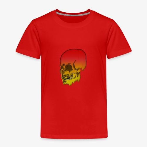 Red and yellow skull melting - Kids' Premium T-Shirt