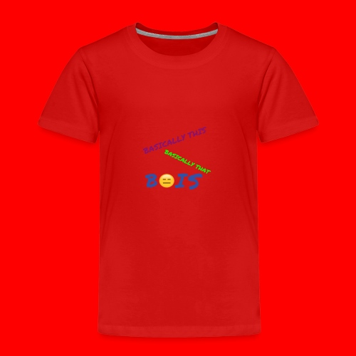 BASICALLY THIS BASICALLY THAT ZEPPLIN Design - Kids' Premium T-Shirt