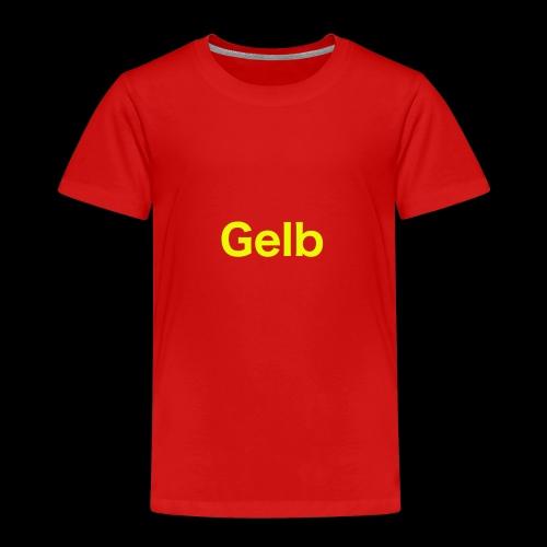 Gelb - Kinder Premium T-Shirt