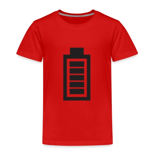 Voll geladen, Akkuanzeige, Energie, Geschenkidee - Kinder Premium T-Shirt