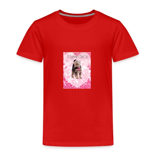 I Love Cat - Kinder Premium T-Shirt