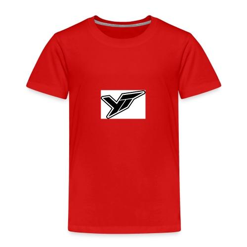 YT LOGO OUTLINE DOPPELT 1 - Kids' Premium T-Shirt