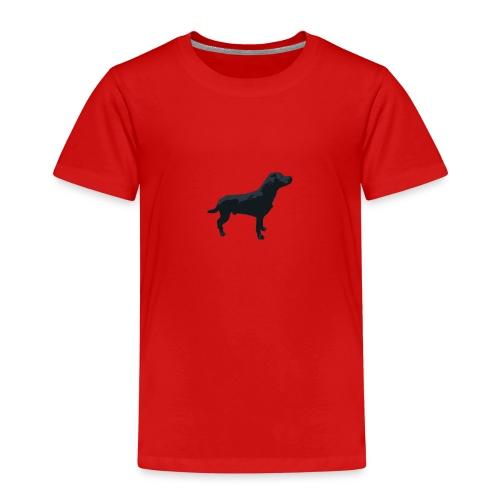 Labrador Hund stehend - ganzes Profil Seite - Kinder Premium T-Shirt