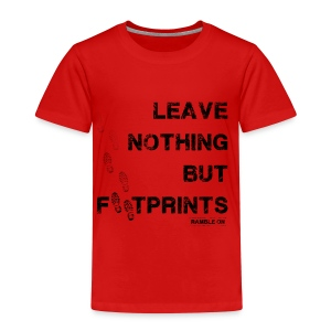 Leave Nothing But Footprints (Black Text) - Kids' Premium T-Shirt