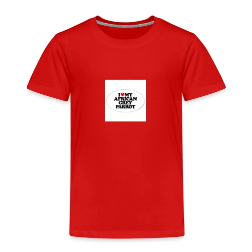 i love my african grey parrot - Kinderen Premium T-shirt