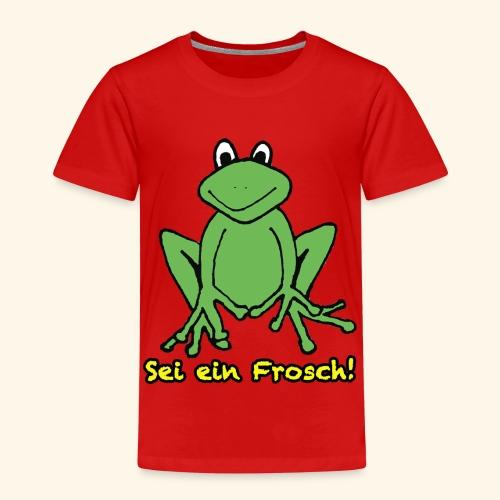 Ein kleiner grüner Frosch! - Kinder Premium T-Shirt