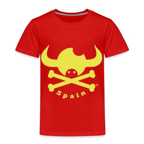 DISEÑO QUIJOTES BASICO AMARILLO SPAIN - Camiseta premium niño