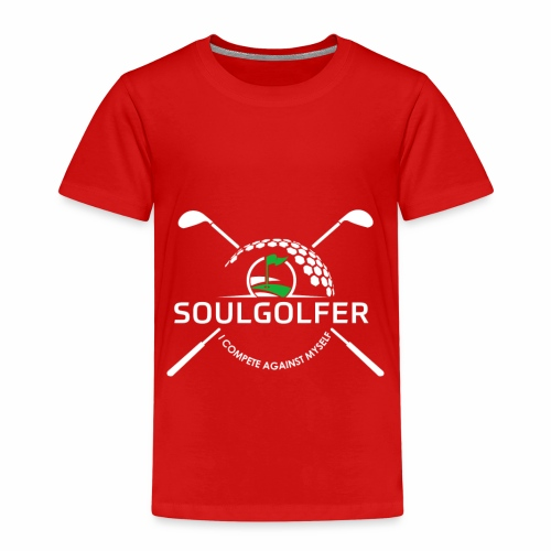 Soulgolfer - I compete against myself - Kinder Premium T-Shirt