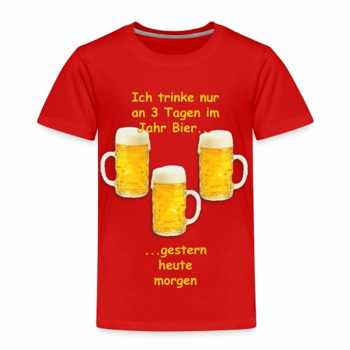 Lustiger Spruch zum Bier trinken mit freunden - Kinder Premium T-Shirt