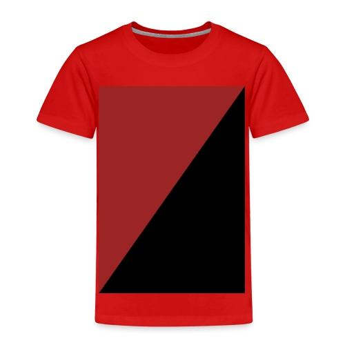 Schwarz/Rot - Kinder Premium T-Shirt