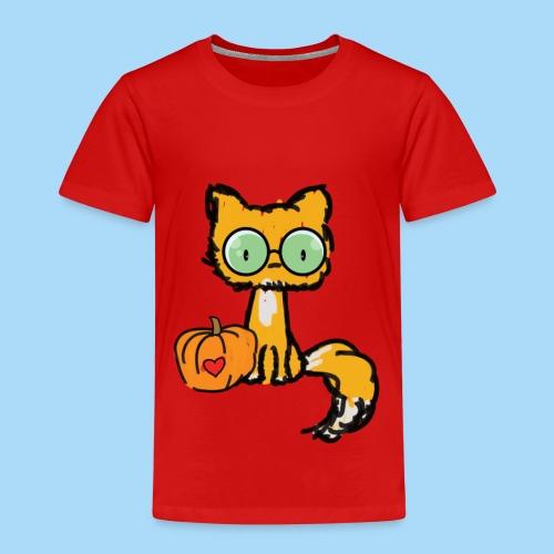 Katze Kürbis Halloween Herbst Orange - Kinder Premium T-Shirt