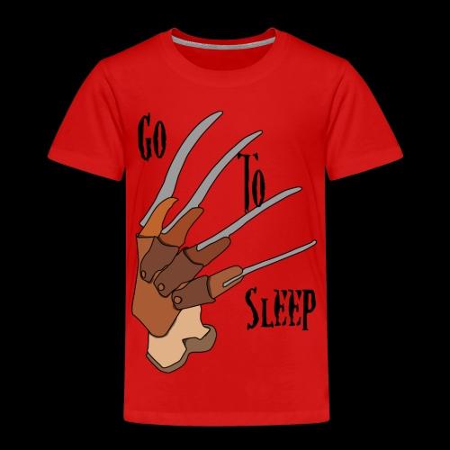 Go To Sleep - tributo a Freddy Krueger - Maglietta Premium per bambini