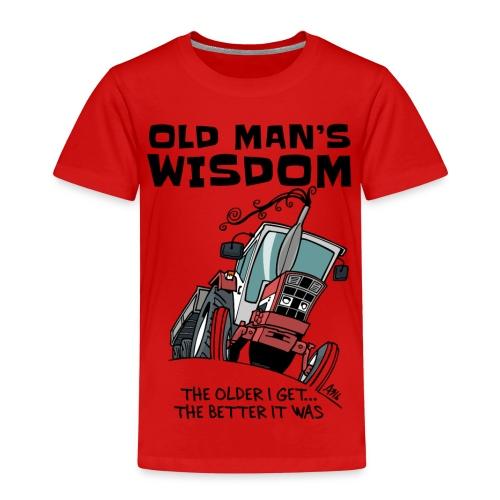 0499 oldmanswisdom IH553 - Kinderen Premium T-shirt