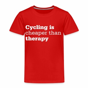 Cycling is therapy - Kinder Premium T-Shirt