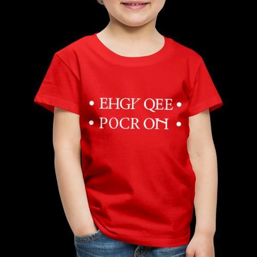 Foldable FUCKOFF white - Kids' Premium T-Shirt