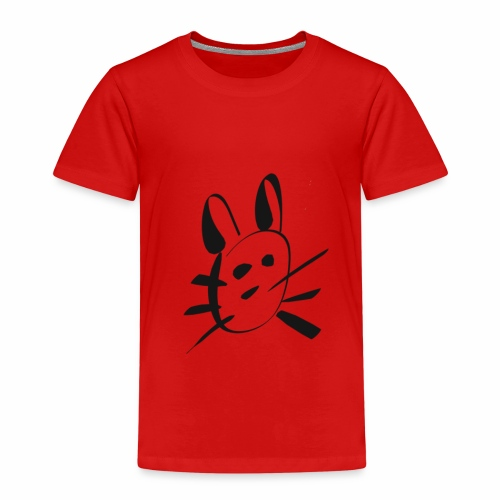 Cute Bunny Cartoon - Kids' Premium T-Shirt