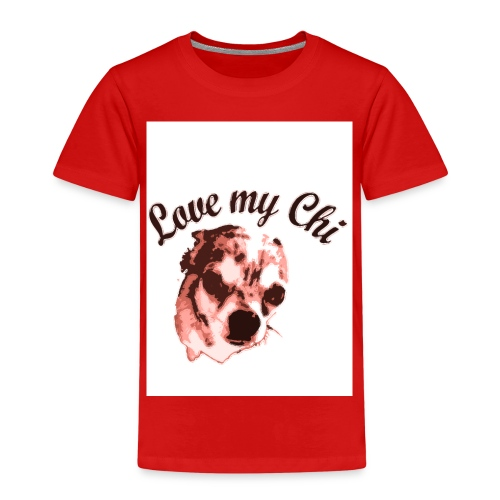 love my chi 1 - Kinder Premium T-Shirt