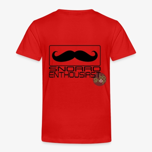 Snorro enthusiastic (black) - Kids' Premium T-Shirt