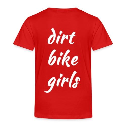 dirt bike girls - Premium T-skjorte for barn