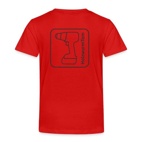 HolzwurmTom Logo grau hinten - Kinder Premium T-Shirt