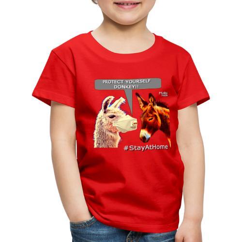Protect Yourself Donkey - Coronavirus - Kids' Premium T-Shirt