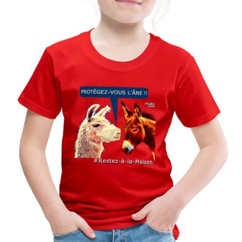 PROTEGEZ-VOUS L'ÂNE !! - Coronavirus - Kids' Premium T-Shirt