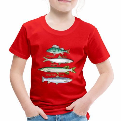 10-34B FOUR FISH - Tekstiili- ja lahjatuotteet. - Lasten premium t-paita