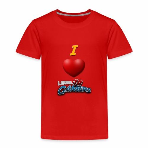 I love Level10Gamers - Premium T-skjorte for barn