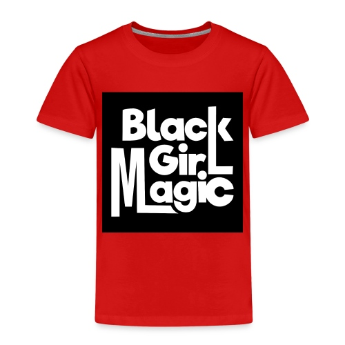 Black Girl Magic 2 White Text - Kids' Premium T-Shirt