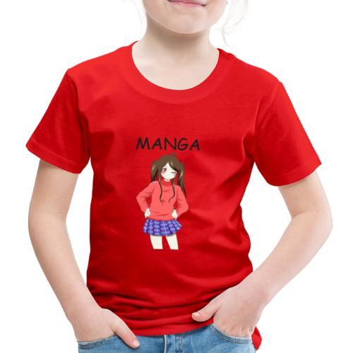 Anime girl 02 Text Manga - Kinder Premium T-Shirt