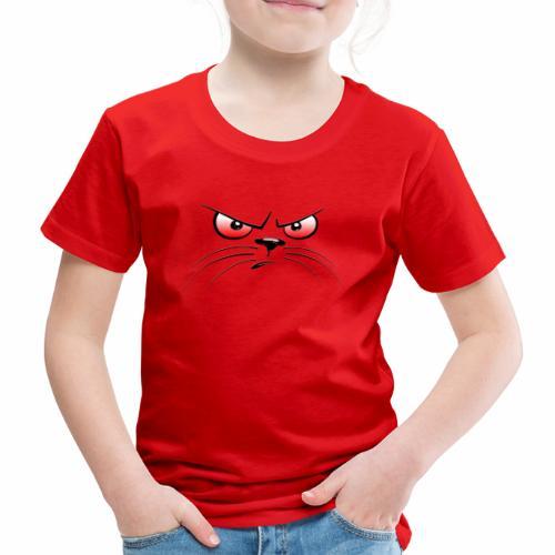 GATTO ARRABBIATO OCCHI ROSSI - ANGRY CAT RED EYES - Maglietta Premium per bambini