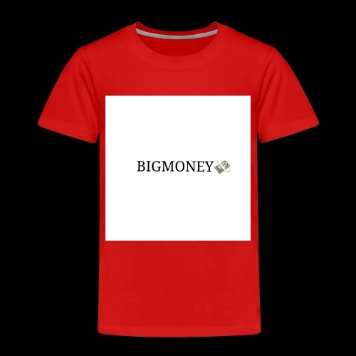 BigMoney hvit stor logo - Premium T-skjorte for barn