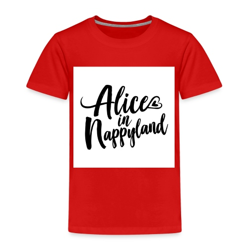 Alice in Nappyland Typography Black 1080 1 - Kids' Premium T-Shirt