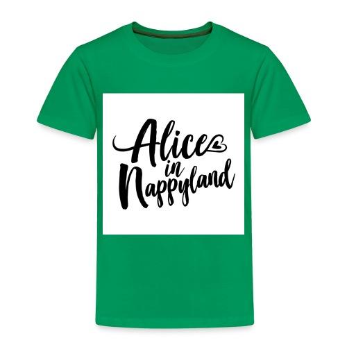 Alice in Nappyland Typography Black 1080 1 - Kids' Premium T-Shirt
