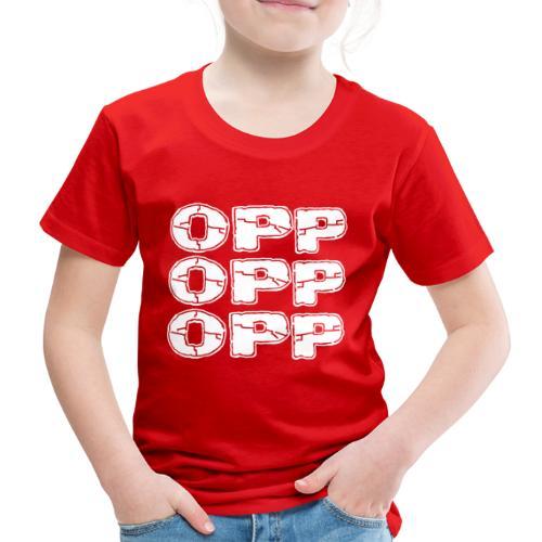 OPP Logo White - Lasten premium t-paita