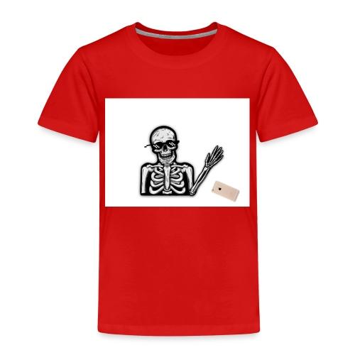 MLG Skelett tappar mobilen - Premium-T-shirt barn