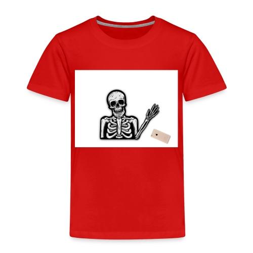 Skelett som tappar sin mobil - Premium-T-shirt barn