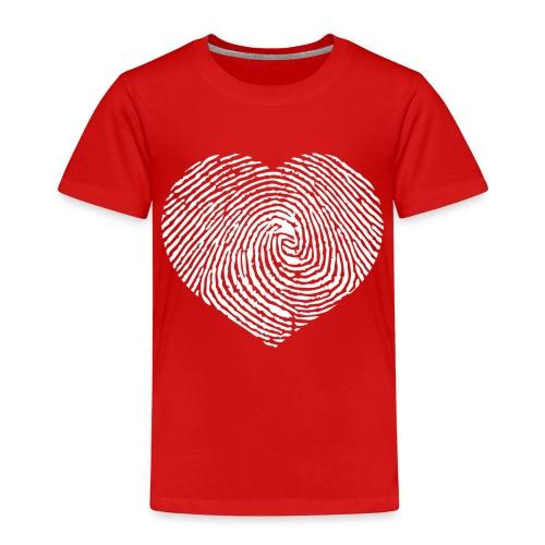 Finger Heart White - Kinderen Premium T-shirt
