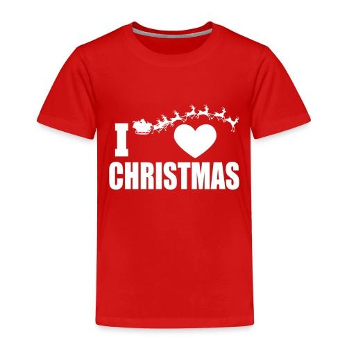 I Love Christmas Heart Natale - Maglietta Premium per bambini