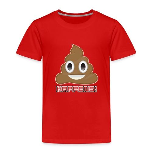 Emoji Poo Happens Funny Joke - Kids' Premium T-Shirt