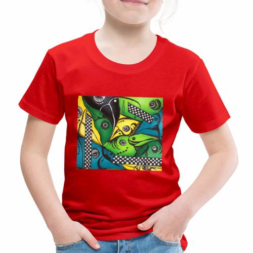 Tropical Birds - Børne premium T-shirt