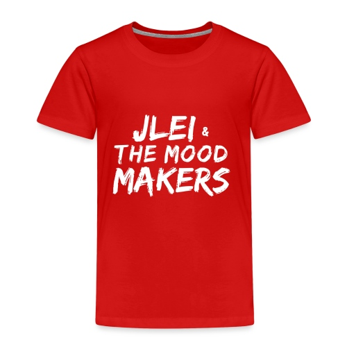 Jlei & The Mood Makers Schriftzug Weiss - Kinder Premium T-Shirt